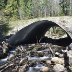 Fish Passage Culvert at Happy Creek installed in 2015 on USFS land - Photo Credit: Tom Horning